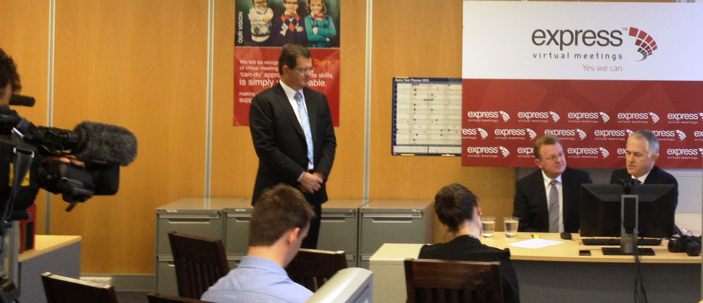 Press conference, Malcolm Turnbull, Bruce Billson