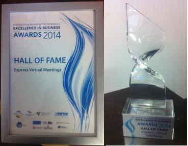 Express Virtual Meetings Hall of Fame awards