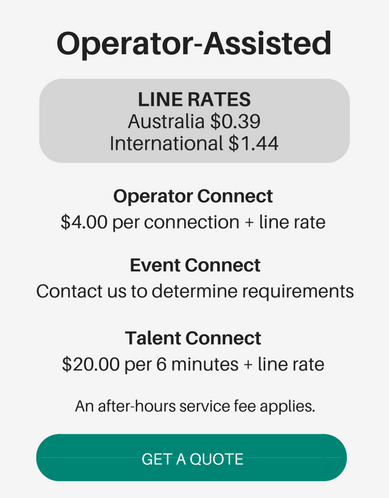 operator-assisted conference pricing