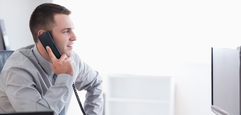 Young businessman talking on the phone-336078-edited